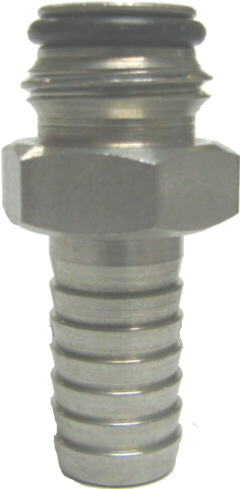 "Adapter - Keg Post - 3/8"" BARB x 9/16-18"""